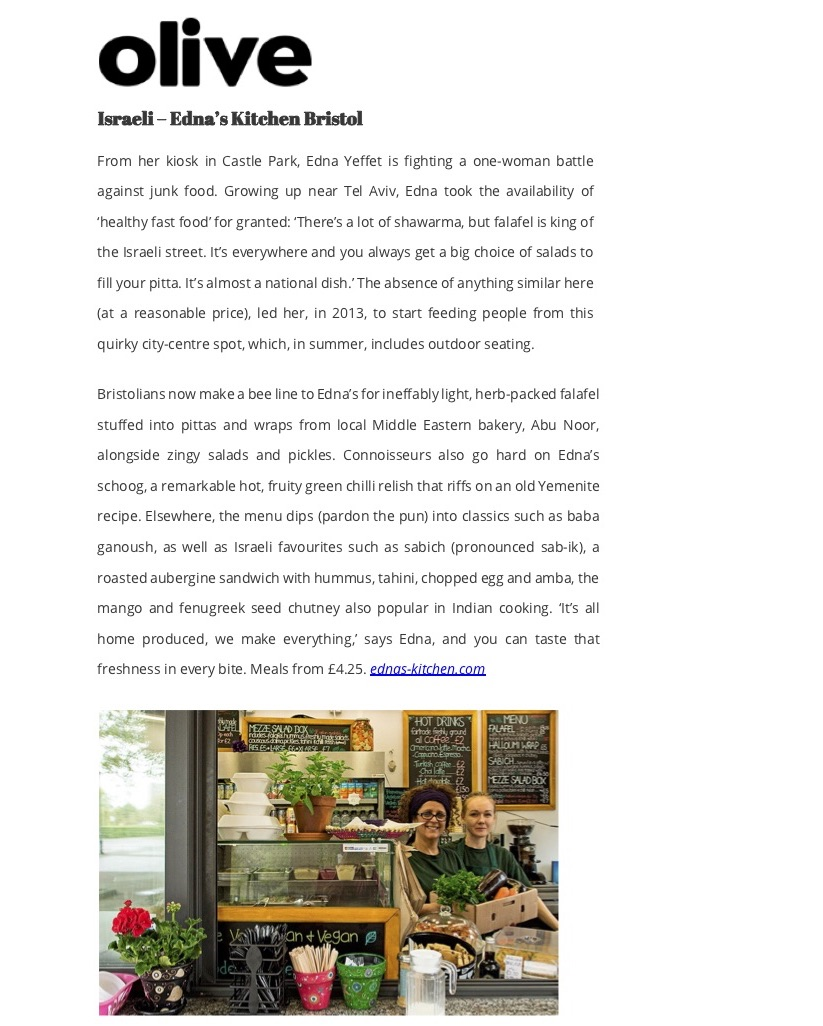 Review by Olive of Ednas Kitchen